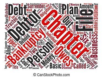 Types Of Debtor Bankruptcy Word Cloud Concept Text Background