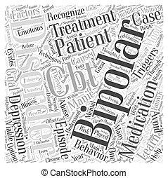 treatment for bipolar disorder Word Cloud Concept