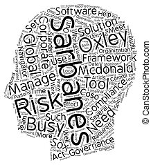 Tools For Sarbanes Oxley Compliance text background wordcloud concept