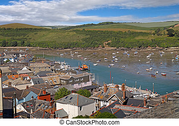 Estuary at Salcombe - The Estuary at Salcmbe in Devon,...