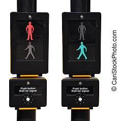Pedestrian traffic lights - pedestrian traffic lights, red...