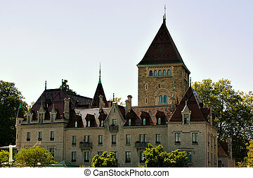 Chateau Ouchy Lausanne - Chateau Ouchy in the city center of...