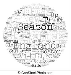 Ways to Enjoy a New England Christmas text background word...