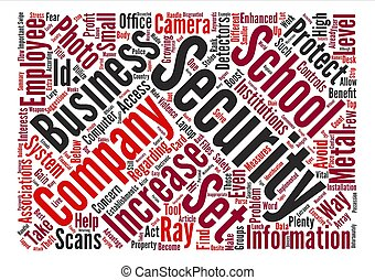 Ways To Increase Security Levels text background word cloud...