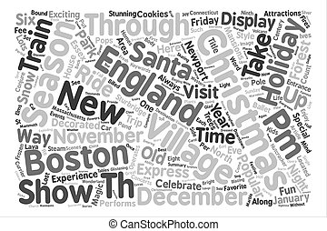 Ways to Enjoy a New England Christmas Word Cloud Concept...