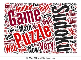 web sudoku Word Cloud Concept Text Background