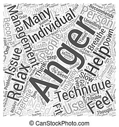What are some Anger Management Techniques Word Cloud Concept