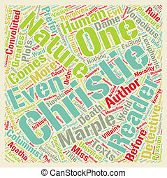 The Columnist in the Mousetrap text background wordcloud...