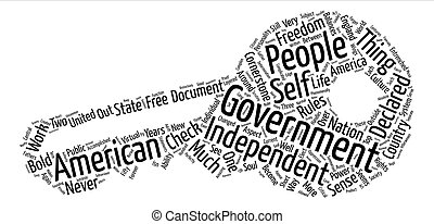 The Cornerstone of Government text background word cloud...