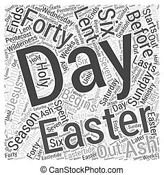 The Days of Easter Word Cloud Concept