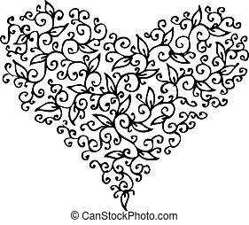 Romantic Heart vignette CXXXIII - Romantic floral refined...