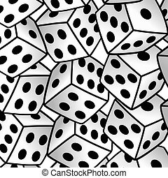 white dice risk taker gamble vector art background...
