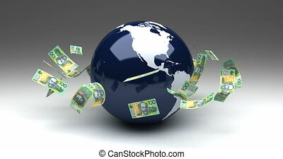 Global Business with Australian Dollars (seamless)