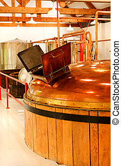 Whisky distillery - interior of whisky distillery, Cape...