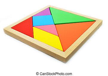 rompecabezas,  tangram, arte, chino