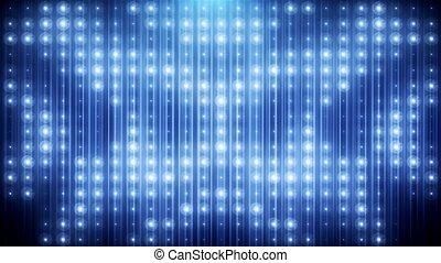 Blue led animated VJ background HD