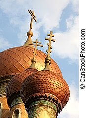 Russian church spire - The Towers of the Russian Church in...