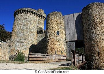 The main gate, Chateau de la Madeleine, Chevreuse, France