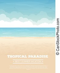 Tropical beach vacation banner