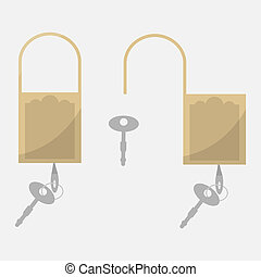 Security symbol for your web site design, logo, app, UI. Vector illustration.