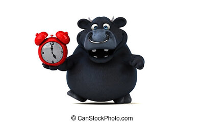 Fun black bull - 3D Animation