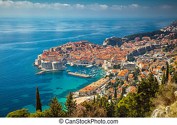Dubrovnik, Croatia. - Beautiful romantic old town of...