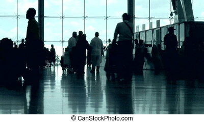 Airport People - People walking in an airport