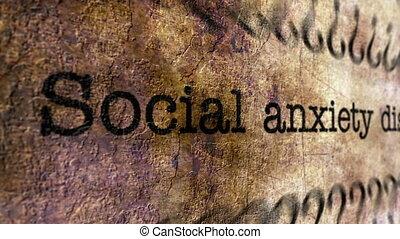 Social disorder grunge concept