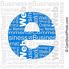 E-business - An illustration of e-business concept made with...
