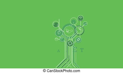 Ecological Icons Tree. Environment, Green Planet. -...