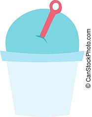 ice cream blueberry cartoon dessert vector illustration food...