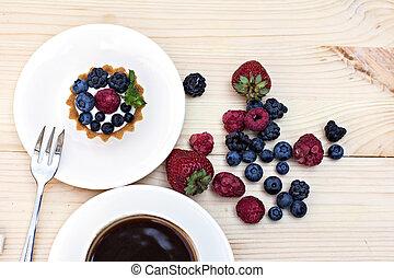Fresh berries dessert
