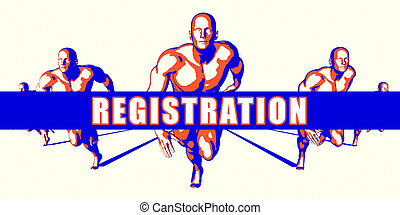 Registration as a Competition Concept Illustration Art