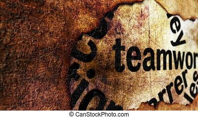 Teamwork grunge concept