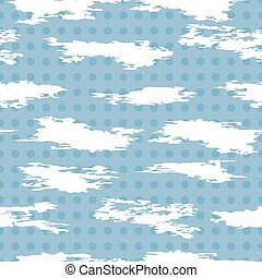 vector seamless pattern of white abstract cloudlike shapes