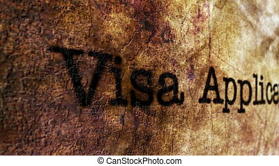 Visa grunge concept