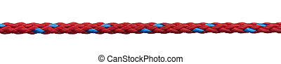 ropes - close up of a rope on white background with clipping...
