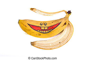 Banana skin with smile