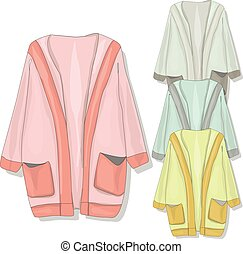 warm clothes collection. vector. - warm clothes collection....