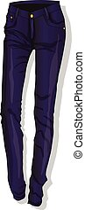 Trousers. Female's clothes. Vector illustration isolated.