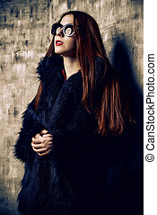 attractive woman in sunglasses - Attractive young woman...