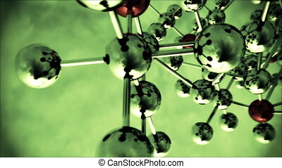 Abstract Molecular Structure. v2. - Abstract view of...