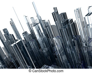 abstract background with glass blocks, high quality 3d...