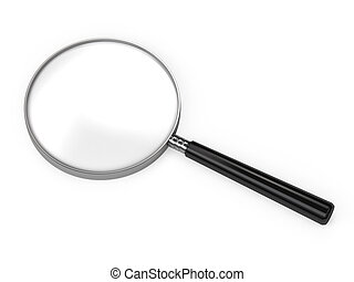 Magnifying Glass isolated on white, very high quality 3d...