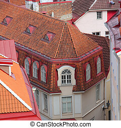 Houses in old town of Tallinn - Beautiful houses in old town...