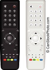 Remote control on a white background. Vector illustration.