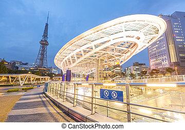 Nagoya Oasis 21 public park area - Oasis 21 in Nagoya, Japan...