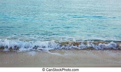 Beautiful white sand beach and Caribbean sea. - Beautiful...