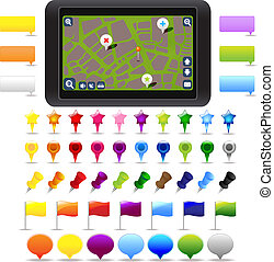 Collection GPS Navigation Elements