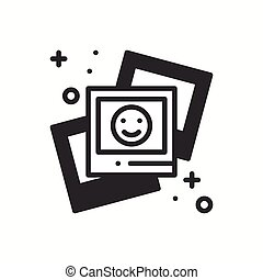 Photograph line outline icon.